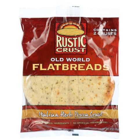 Rustic Crust Pizza Crust - Flatbreads - Italian Herb - 2 pack - 9 oz - case of 12