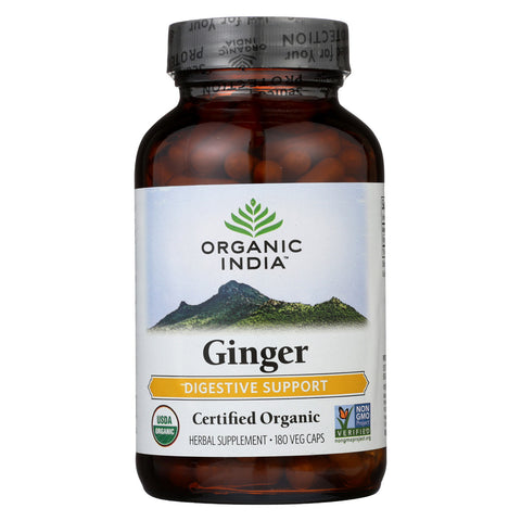 Organic India Vitamins - Ginger - 180 VCAP