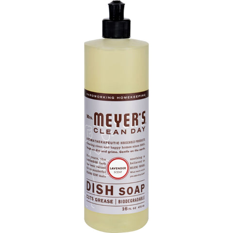 Mrs. Meyer's Liquid Dish Soap - Lavender - Case of 6 - 16 oz
