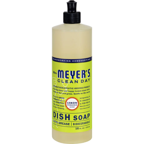 Mrs. Meyer's Liquid Dish Soap - Lemon Verbena - Case of 6 - 16 oz
