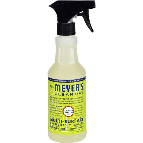 Mrs. Meyer's Multi Surface Spray Cleaner - Lemon Verbena - 16 fl oz - Case of 6