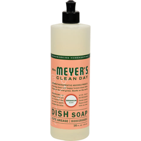Mrs. Meyer's Liquid Dish Soap - Geranium - 16 oz