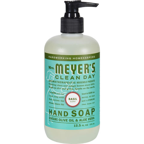 Mrs. Meyer's Liquid Hand Soap - Basil - Case of 6 - 12.5 oz
