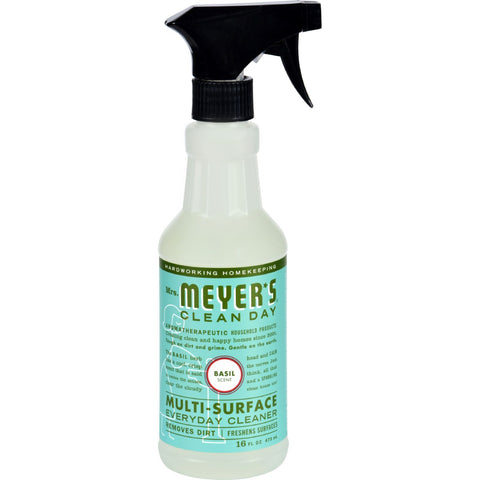Mrs. Meyer's Multi Surface Spray Cleaner - Basil - 16 fl oz - Case of 6