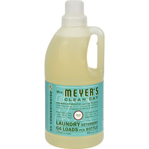 Mrs. Meyer's 2X Laundry Detergent - Basil - Case of 6 - 64 oz