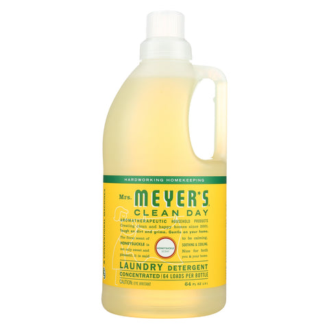 Mrs. Meyers Clean Day Laundry Detergent - Honeysuckle - Case of 6 - 64 Fl oz.