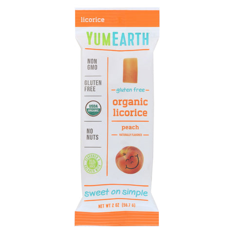 Yumearth Organics Organic Licorice - Peach - Case of 12 - 2 oz