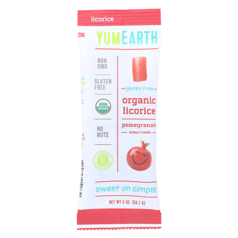 Yumearth Organics Licorice - Organic - Pomegranate - Case of 12 - 2 oz