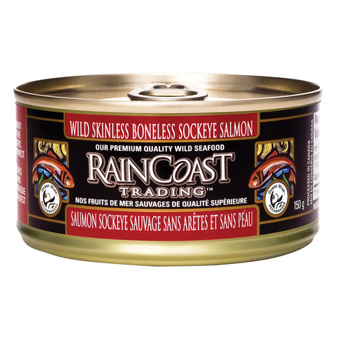Raincoast Trading Wild Sockeye Salmon - Skinless Boneless - Case of 12 - 5.3 oz.