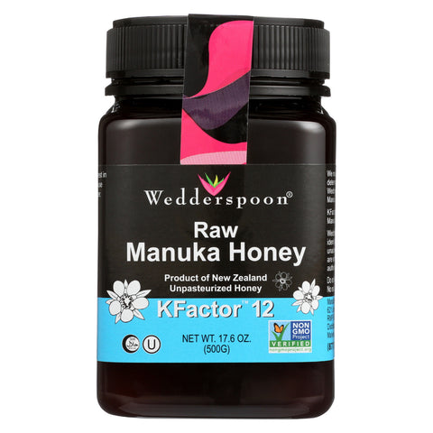 Wedderspoon Manuka Honey - 100%Raw - K12 - 17.6 oz