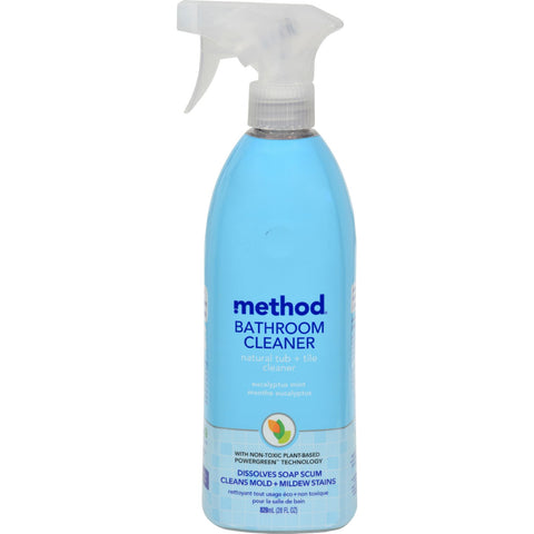 Method Products Tub and Tile Spray - Eucalyptus - 28 oz - Case of 8