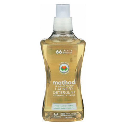 Method Products Inc Laundry Detergent - Free and Clear - 4X - Case of 4 - 53.5 fl oz