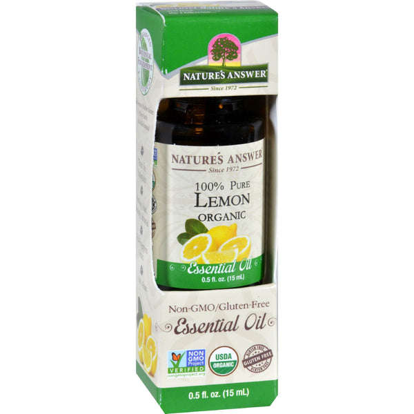 Natures Answer Essential Oil - Organic - Lemon - .5 oz