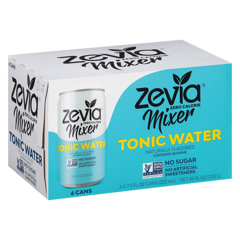 Zevia Zero Calorie Mixer - Tonic Water - Case of 4 - 6/7.5 fl oz