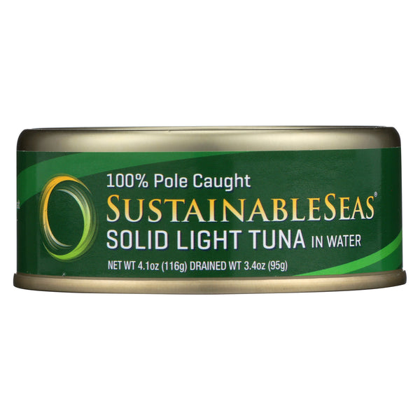 Sustainable Seas Solid Light Tuna in Water - Case of 12 - 4.1 oz.