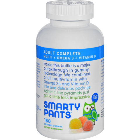 SmartyPants All-in-One Multivitamin Plus Omega 3 Plus Vitamin D Gummies - 180 Pack
