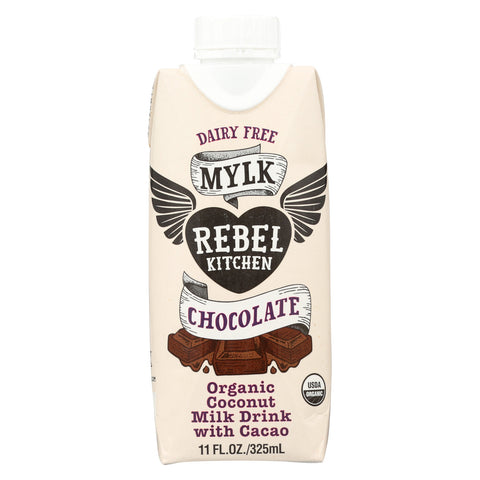 Rebel Kitchen Organic Coconut Milk - Chocolate - Case of 8 - 11 Fl oz.