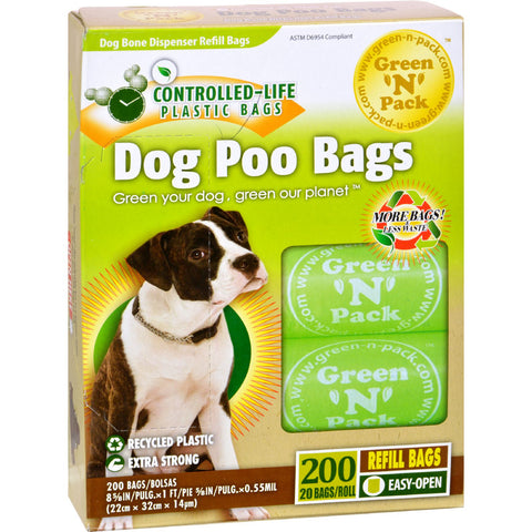 Green-n-Pack Dog Poo Bags - 200 Pack