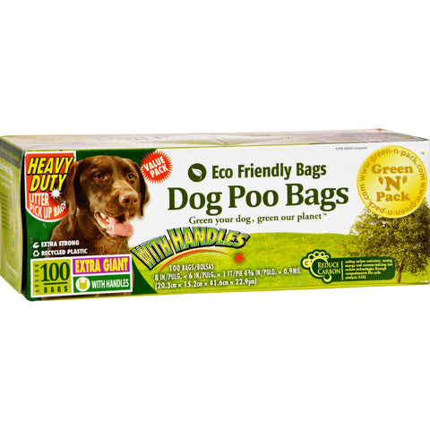 Green-n-Pack Dog Poo Bags Xtra Giant Ties - 100 Pack