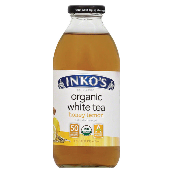 Inko's White Tea - Lemon - Case of 12 - 16 Fl oz.