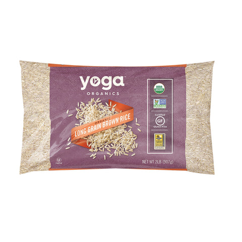 Yoga Rice - Organic - Long Grain - Brown - Case of 12 - 32 oz