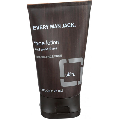 Every Man Jack Face Lotion and Post Shave - Fragrance Free - 4.2 oz