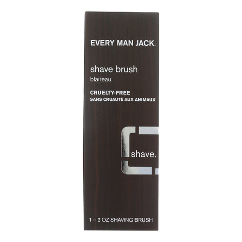 Every Man Jack Shave Brush - Premium Shave - 1 Brush - 2 oz