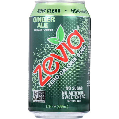 Zevia Soda - Zero Calorie - Ginger Ale - Can - 6/12 oz - case of 4