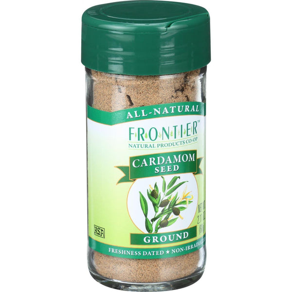 Frontier Herb Cardamom Seed - Ground - Decorticated - No Pods - 2.11 oz