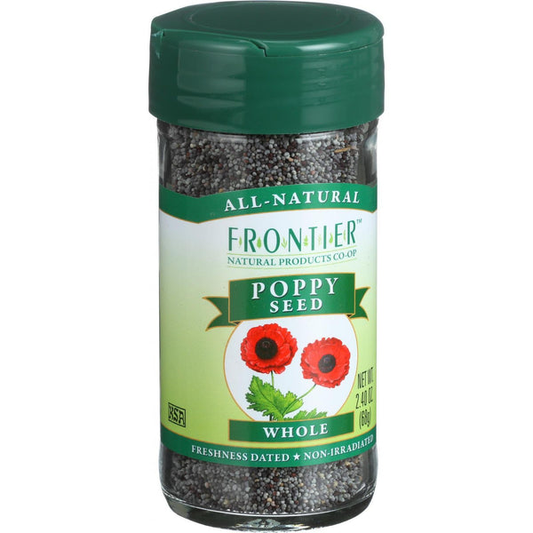 Frontier Herb Poppy Seed - Whole - A 1 Grade - 2.4 oz