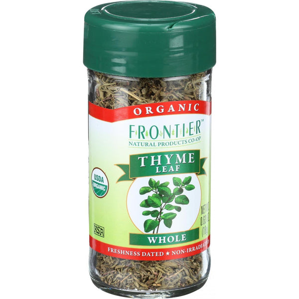Frontier Herb Thyme Leaf - Organic - Whole - .8 oz