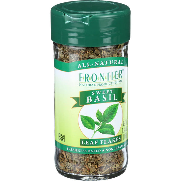Frontier Herb Basil Leaf Flakes - Sweet - Cut and Sifted - Domestic - .48 oz