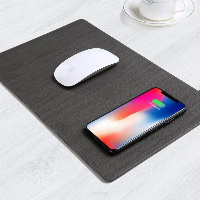 2 In 1 Fast Wireless Charger Pad For Mouse & Mobile Phone - Wireless Charger F6 Std Edc Oto Mouse Pad Wireless Charger Wireless Charger