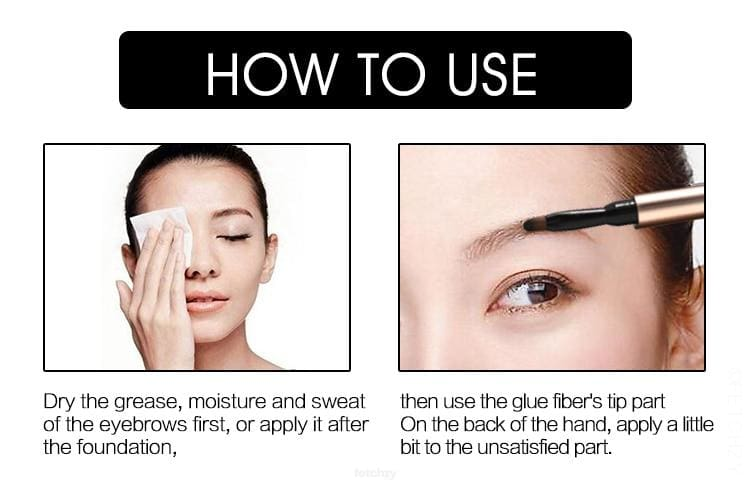 3D Eyebrow Hair Extension Gel. Helps To Fill The Gaps Of Eyebrows - Makeup 3D Eyebrow Eyebrow Extension Gel F6 Std Edc Oto Makeup Men