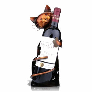 Cat Wine Holder - A Metal Sculpture - Wine Holder Cat Wine Holder Cat Wine Holder Metal Oto Home Decoration Home Essentials Metal Sculpture