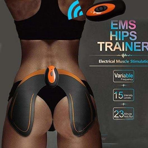 Ems Hips Trainer (With Wireless) Muscle Toner Helps To Lift Shape And Firm The Butt - Whole Set - Fitness Hacks Electric Stimulator Ems Hips