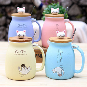 Kitty Cup With Heat-Resistant For Kids & Cat Lovers - Drinkware Cup Drinkware F6 Std Edc Oto For Cat Lovers Kitty Fetchzy Fetchzy