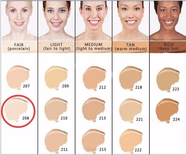 Makeup Cover Concealer Liquid Foundation. Covers Freckles Acne Marks & Its Waterproof - Dermacol208 - Makeup Concealer F6 Std Edc Oto