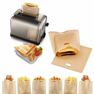 Reusable Non-Stick Toaster Bags - Saves Hours Of Time in Cleaning Your Toaster - KITCHEN TOOLS BAKEWARE F6 STD EDC OTO FEATURED KITCHEN
