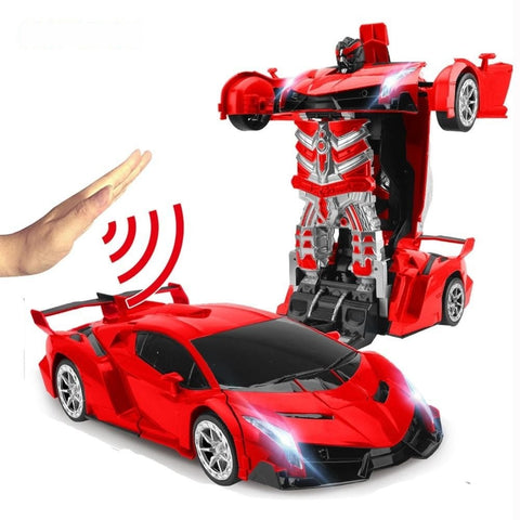 Robot Car Toy - Transformed With Gesture Sensing & No Touch Required - TOYS GESTURE SENSING TOY, KIDS, RC CARS, RC TOYS, REMOTE CONTROLLED