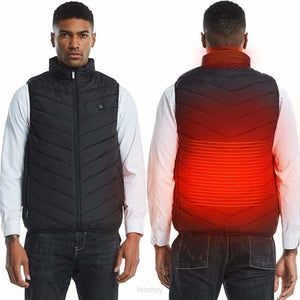 Smart Heated Winter Vest - It's A Rechargeable Thermal Jacket - SMART CLOTHING Heated Winter Jacket, Heated Winter Vest, Rechargeable
