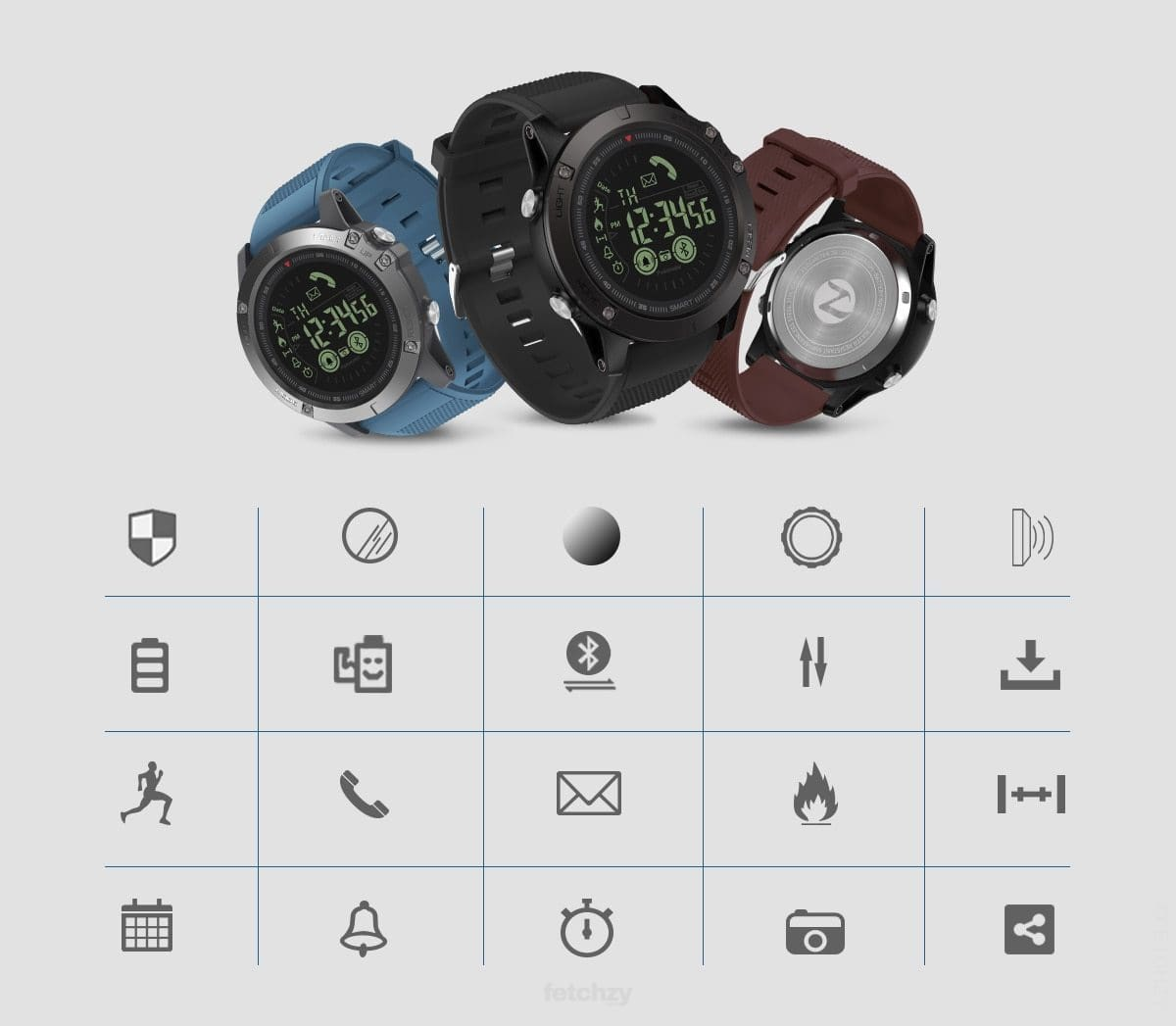 Sports Smartwatch (Rugged) With Power Standby For 33 Months Wow