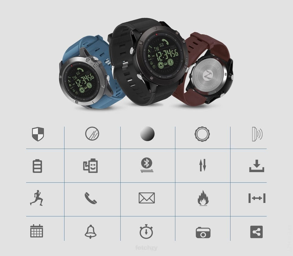 Sports Smartwatch (Rugged) With Power Standby For 33 Months! - Sports Smart Watch Men Rugged Sports Smart Watch Oto Smart Smart Watch Sports