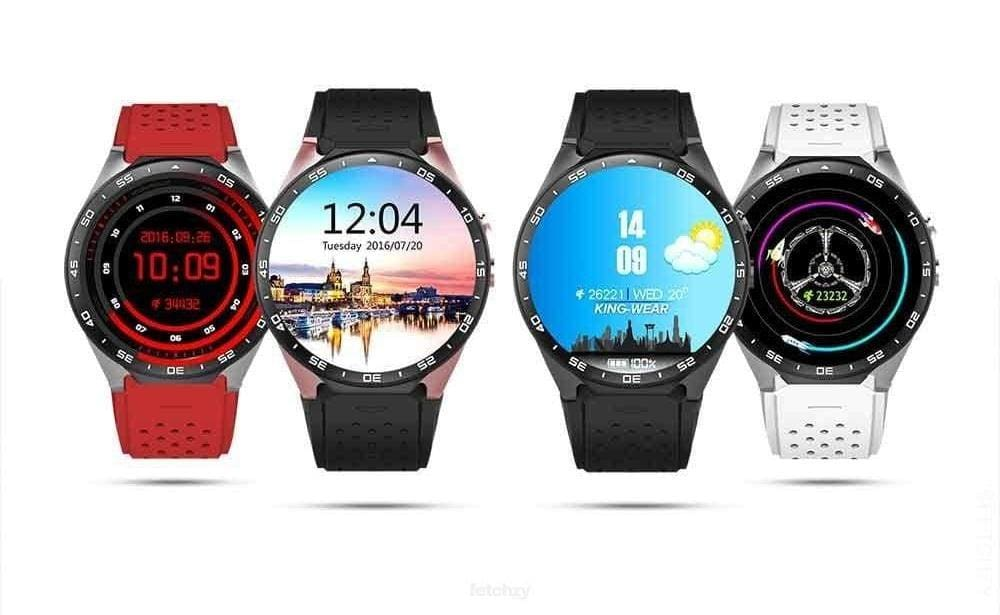 Kw88 Android Smartwatch With 2.0Mp Camera - Supports Ios