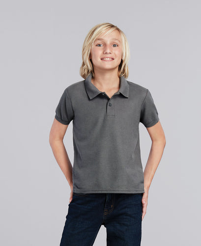 DRY BLEND YOUTH DOUBLE PIQUE POLO