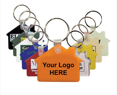 Custom Imprinted Key Tag Fob House