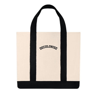 Decolonise Shopping Tote Bag (Embroidered) - Self Sovereignty
