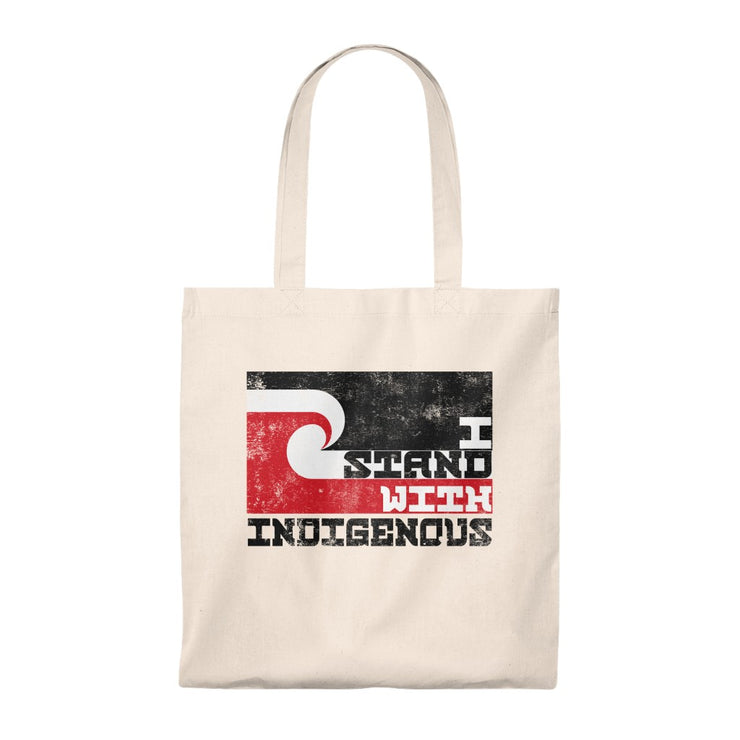 I Stand With Indigenous Shoulder Tote Bag - Self Sovereignty