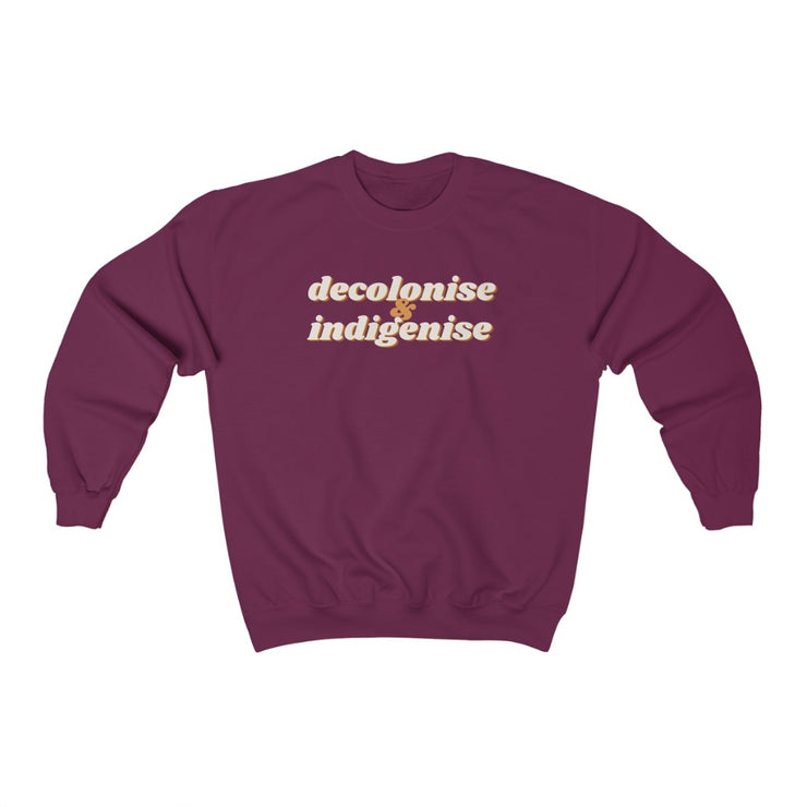 Decolonise & Indigenise Sweatshirt (New Colours!) - Self Sovereignty