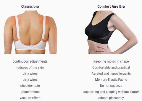 Invisible Wireless Air Bra black white